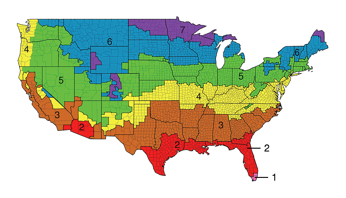 R Value Insulation Zones Map